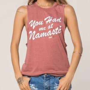 Spiritual Gangster You had me at Namaste Tank NWT